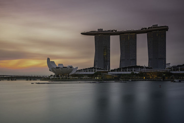 Marina Bay Sands By Water Against Sky