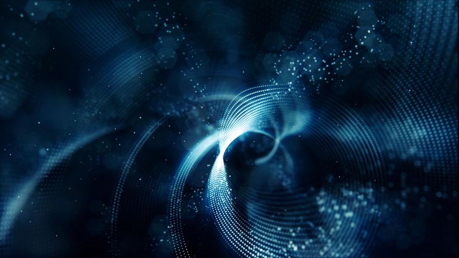 Digital composite image of illuminated lights