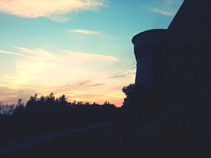 Brescia Castle Sunset Bastions