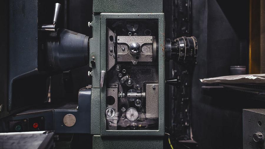 Close-up of camera at home