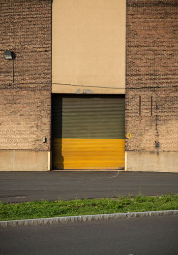 Yellow wall by building