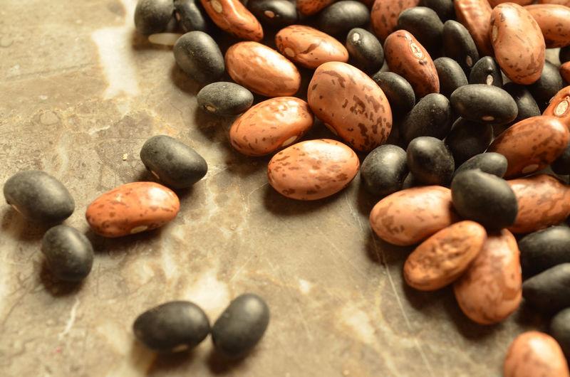 Dry pinto beans, black beans, rice