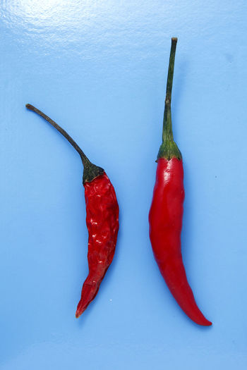 fresh and withered red chili peppers Red Colored Background Studio Shot Vegetable Close-up Food And Drink Red Chili Pepper Pepper Dried Food Jalapeno Pepper Chili Pepper Chili  Pepper - Vegetable Spice
