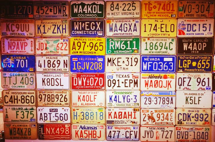 Travel Travelling Destination License Plates License Plate License Plates Numbers Letters