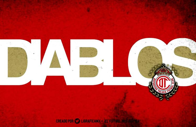 Red Text Toluca Amor ♥ Diablos Equipo