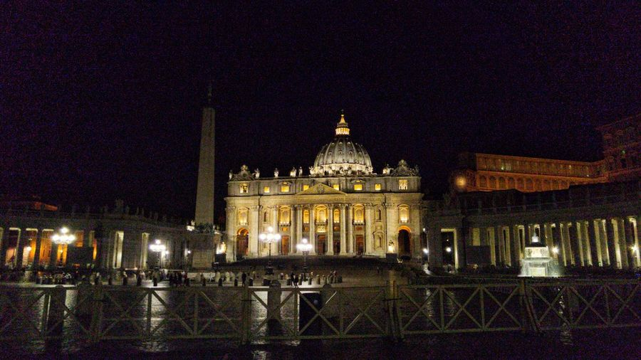Colour Of Life St Petersburg Palace Square Italy Holidays Bestvacations Vatican City Rome Forever Roma Forever Vacation Destination Vaticano St Peter Night View St Peter Basilica Dome By Night. Rome, Italy Rome Through My Eyes Largo Del Colonnato Rome Night Photography Nightwalk Night Shot