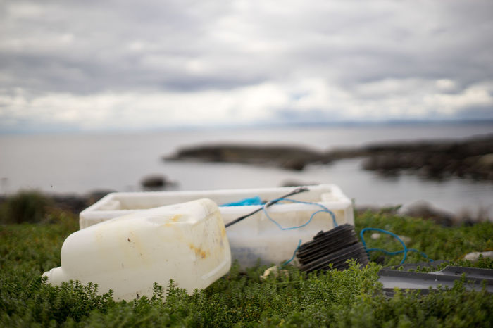 more crap Norway Vestfold Beach Beach Clean Up Beauty In Nature Cloud - Sky Focus On Foreground Garbage Grass Horizon Over Water Nature Nature Conservation No People Outdoors Pickitup Plastic Cans Plastic Waste Sea Tranquility Water Wwf