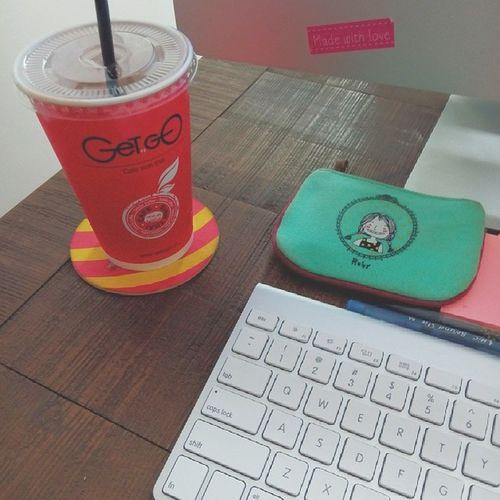 Morning ? ? Working Desk Getngocoffee Imac vscocam vsco