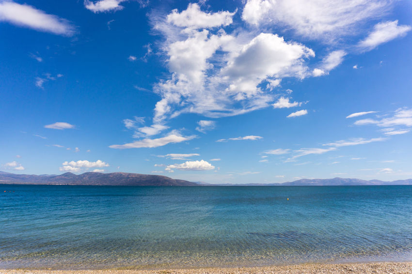 Summers in Greece are blue and make you feel happy! Beach Beauty In Nature Blue Cloud - Sky Day Greece GREECE ♥♥ Happy Island Landscape Nature No People Photo Photography Photooftheday Scenics Sea Sky Summer Tranquil Scene Tranquility Travel Water