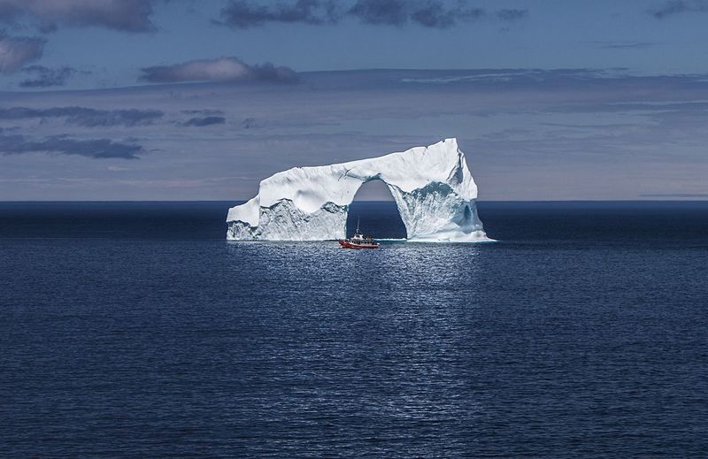 Iceberg - Newfoundland Canada Sea And Sky Landscape_Collection Nature_collection Clouds And Sky Beautiful Landscape Sea Taking Photos Sky Canada The Great Outdoors With Adobe