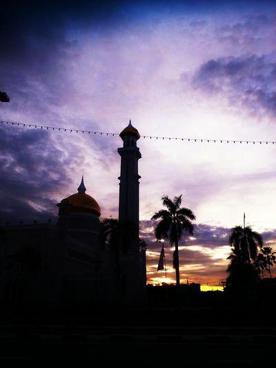 dusk. Mosque Islam Sunset Travel