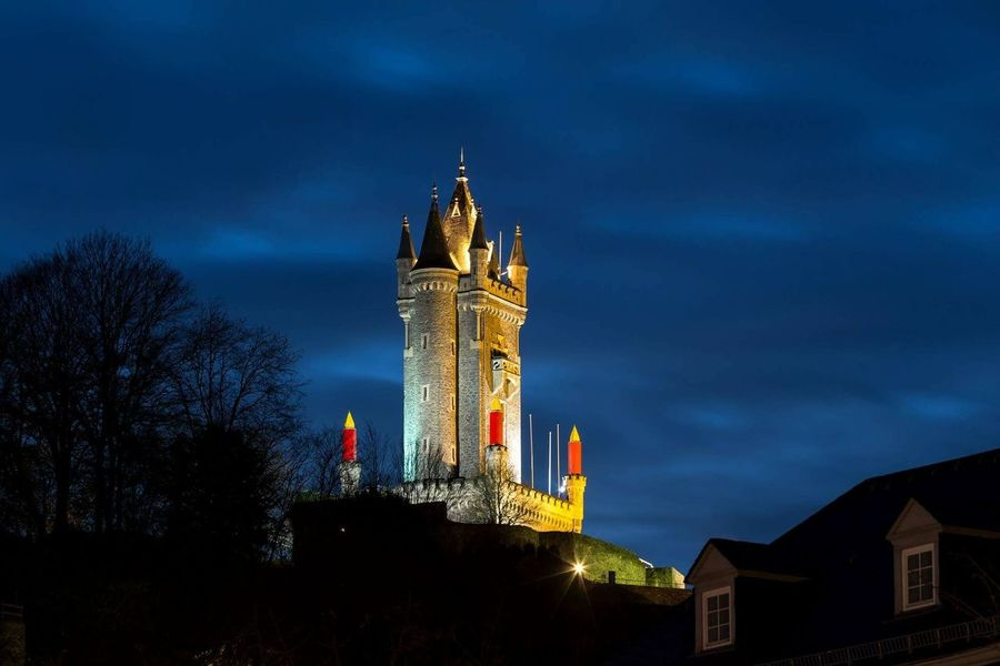 Wilhelmsturm Tower Dillenburg Germany at Night #1 Dillenburg Germany Hesse Hessen Tower Architecture Night Business Finance And Industry History Travel Destinations Arts Culture And Entertainment Cityscape City