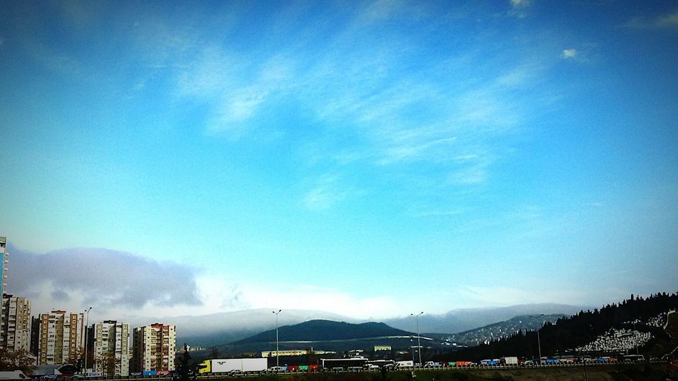 Blue Sky Mountain View Sky And Clouds Turkey Istanbul  Bostancı Vieux Nice  Pastel Power
