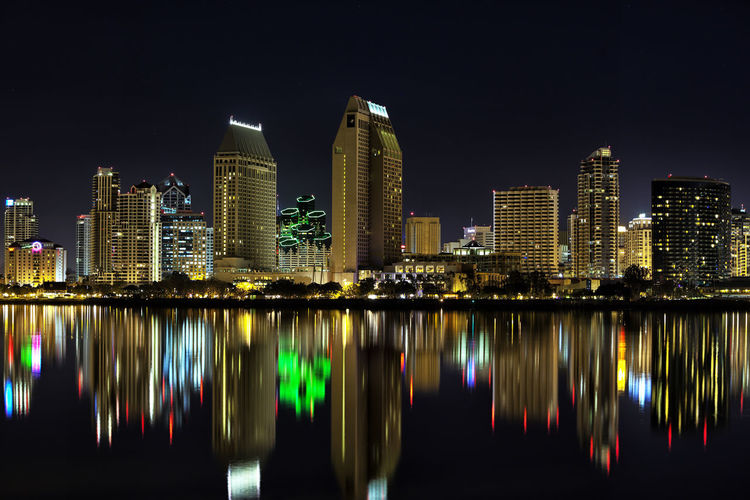 America's Finest City Detail Sharp Buildings Lights Tranquility Calm Bay Waterfront Water WestCoast Reflection City Cityscape Landscape Beautiful Peaceful Skyline Downtown Downtown District Hotel San Diego Long Exposure Interesting Vibrant Canon Financial District  Tall - High Panoramic Waterfront Office Building