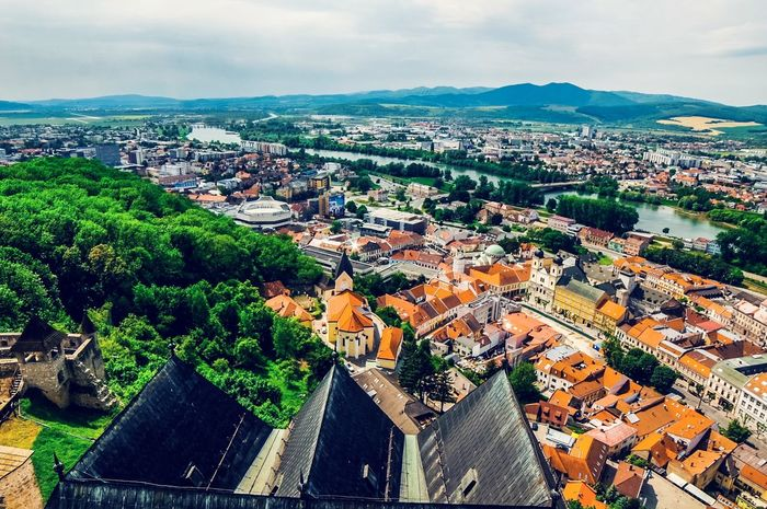 Architecture Built Structure High Angle View Roof Cityscape Mountain Travel Destinations City Trencin Slowakia Slovakia Samyang14mm Castle