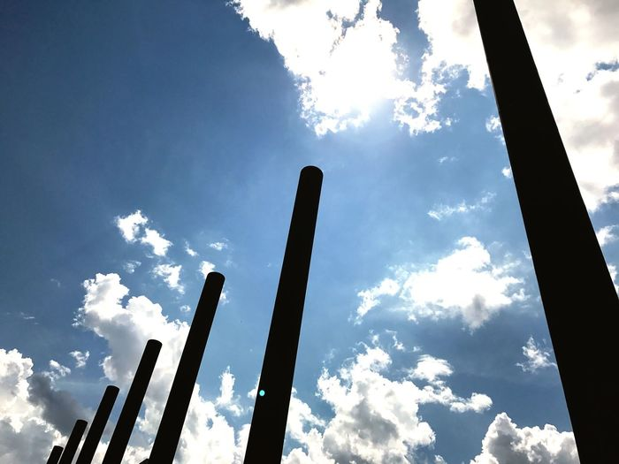 Low Angle View Sky Cloud - Sky Day Blue No People Built Structure Sunlight Outdoors Architecture Nature Bonn Bonn Art Museum