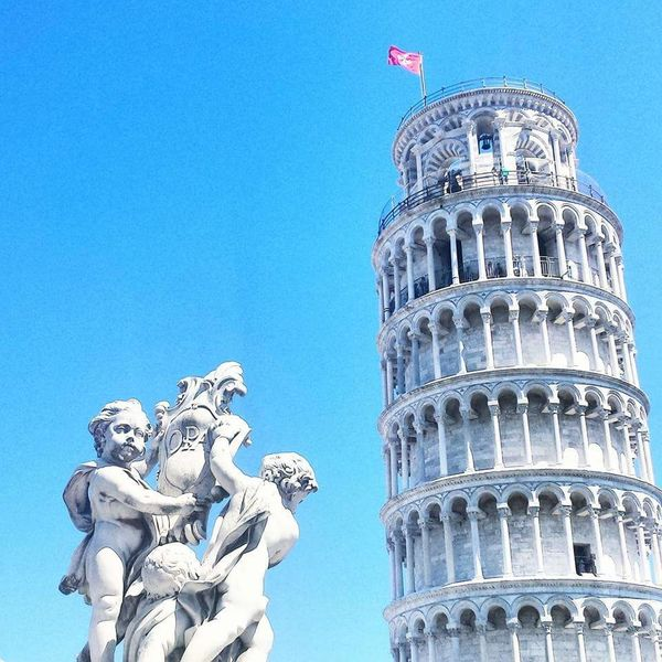 Pisa Pisa Tower Campodeimiracoli Italy Italia Bella Italia Blue Clear Sky Architecture Travel Tourism City Travel Destinations Building Exterior Low Angle View No People Statue Outdoors Dome Day Sky
