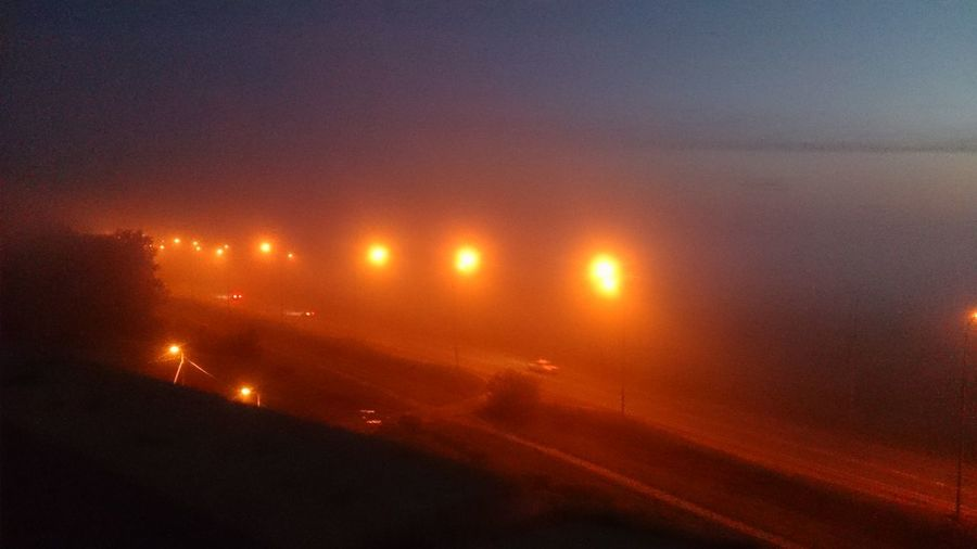 Mist туман Fog Night 1:35am City Illuminated