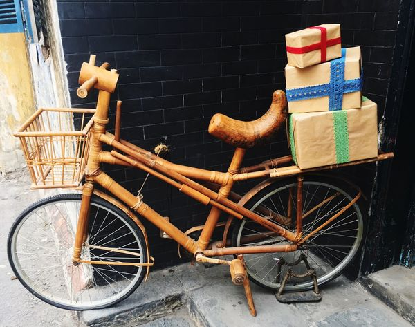 Wooden Cycle Transportation Traveling Traveller Travel Gifts ❤ Carrier That's Me Hanging Out Relaxing Enjoying Life Vietnam Destinations Hoian  Vietnamese Cycle Stand 43 Golden Moments