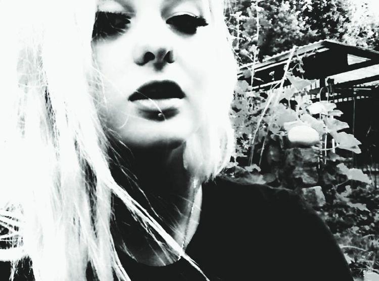 Taking Photos That's Me Model Blonde Girl Blonde Hair Piercing
