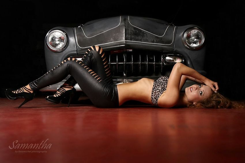 Shooting Model High Heels US Cars Hotgirl Bra Taking Photos Girl Crazy America