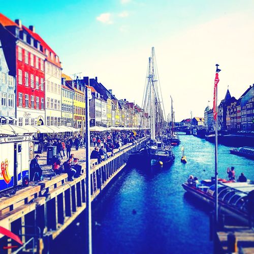 Kopenhagen Nyhavn Buildings Buildings At The Sea Architecture Sky Outdoors Building Exterior Travel Destinations Day Built Structure City Water No People