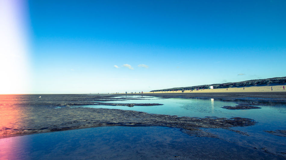 Beach Beauty In Nature Blue Blue Sky Clear Sky Day Filters Horizon Over Water Island Landscape Langeoog Low Tide Nature Outdoors Reflection Reflections In The Water Sand Scenics Sea Seascape Sky Sunlight Travel Destinations Water