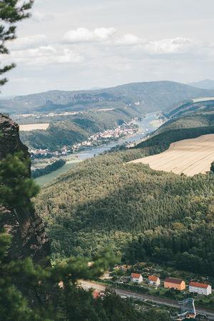 Ausblick Elbsandsteingebirge Nationalpark Sächsische Schweiz Nature View Beauty In Nature Elbe Landscape Landscapephoto Landscapephotography Mountain Mountain Range Nature Naturephoto Naturephotography Saxony Switzerland Sky Sächsische Schweiz Tree