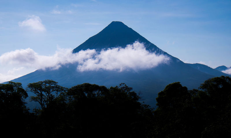 Arenal  Arenal Volcano Arenal Volcano National Park Costa Rica Cloud - Sky Cone Cone Shape Day EyeEm New Here Forest Landscape Mountain Mountain Peak Nature No People Outdoors Silhouette Sky Tree Volcano Volcanoes Volcanoes National Park