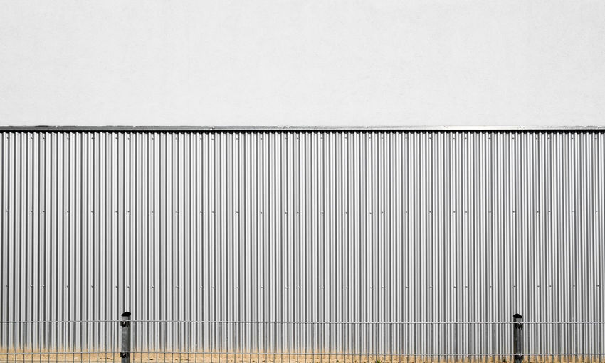 Corrugated Iron Against Wall