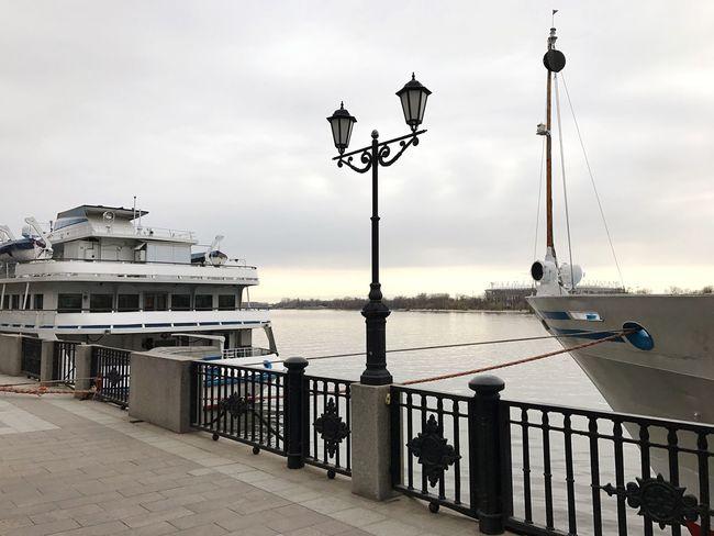 Embankment of Rostov-on-Don Sky Ship Embankment Rostov River River Don Don Morning