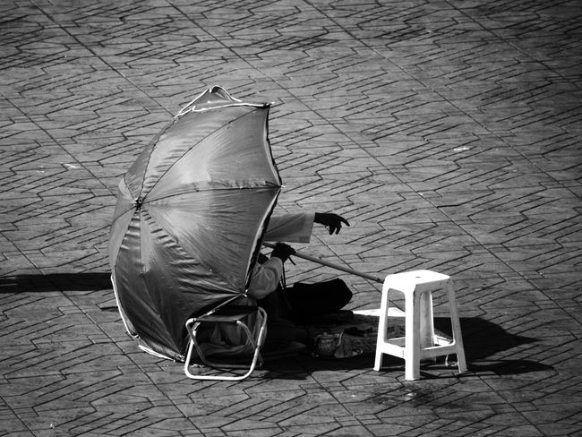 Monochrome Photography Outdoors Day Man Umbrella Finger Pointing Fingers