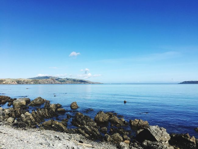 Beautiful day by the water Sea Water Blue Beauty In Nature Nature Scenics Outdoors Horizon Over Water Tranquil Scene No People Seascape Seascape Photography Foreshore Beautiful Day Blue Sky