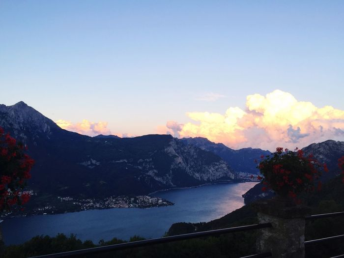 View Panorama Amazing Como Lake Sunset Picoftheday Instamood