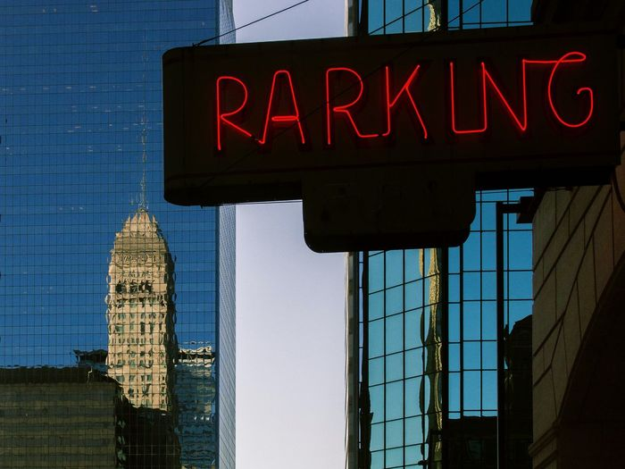 Downtown...Rarking? Neon Downtown Signs Reflection Reflections Building Minneapolis Buildings Old Buildings Skyscrapers
