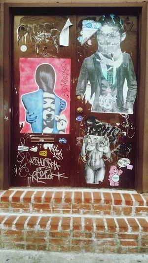 Street Art Doorway Entryway Williamsburg Brooklyn