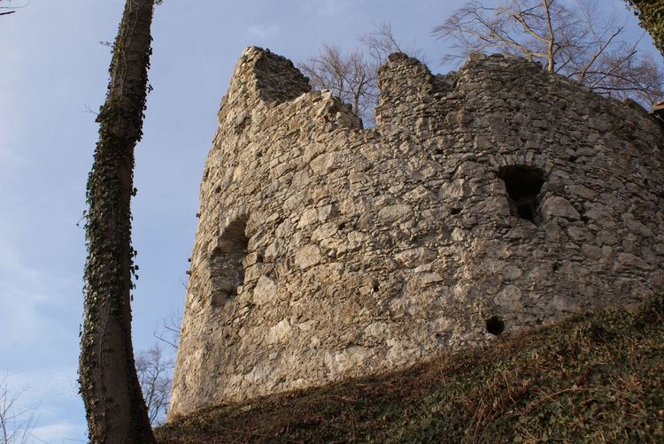 Burgruine Neuburg Burg Destoryed Mittelalter Ruine Beauty In Nature Castle Ruin Castle Tower Close-up Day Low Angle View Nature Neuburg No People Outdoors Ritterzeit Ruined Ruined Castle Sky Stones Stonewall Tree Vergangenheit Verwittert Zerstört überreste