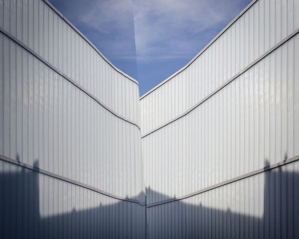 Reflection Architecture Building Building Exterior Built Structure City Cloud - Sky Connection Day Low Angle View Metal Modern No People Office Building Exterior Outdoors Pattern Sky Wall - Building Feature The Architect - 2018 EyeEm Awards