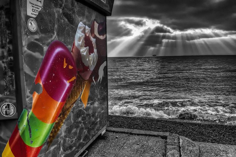 Summers Here Summer Ice Cream Coloursplash Clouds Dramatic Sky Portsmouth Southsea Hampshire  England Sky Close-up Cloud - Sky