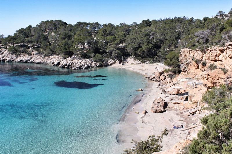Rustic beach View Ibiza Turquoise crystal clear Rustic Sea Beauty In Nature Tranquil Scene Tranquility Nature Scenics - Nature Water Sky Day Sunlight Clear Sky Beach Idyllic