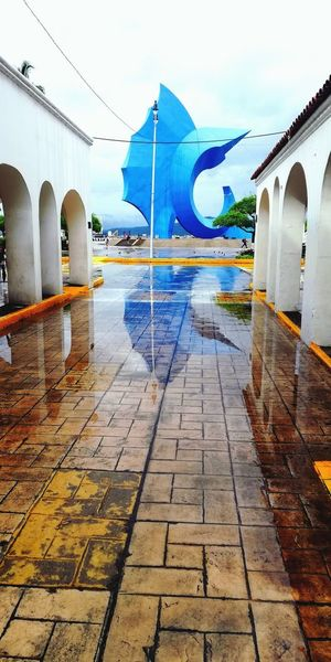 Sailfish Sailfish Huaweiphotography Manzanillo City Water Cold Temperature Sky Architecture Rainy Season Rain Diminishing Perspective RainDrop Dew