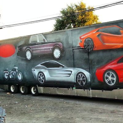 Almost done side 1 Mastrocola Spraypaint Cars Truck 53feet redstarmovement