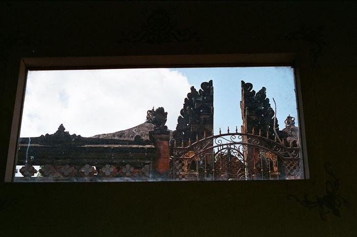 Place Of Heart Window Frame Fine Art Photography Film Photography Filmisnotdead Bali Analogue 35mm Film Looking Outside Balinese Architecture