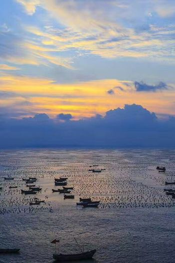 Sunset Beauty In Nature Sea Edenmandom Taking Photos Mobile Phone Photography Nubia Z11 Black Gold Mobile Phone at Shizhu Village, Sicheng Township, Zhoushan, Zhejiang Province, China.
