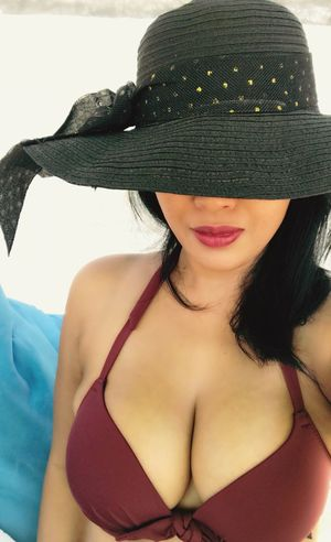 Woman behind the hat... #burgundy #beachclub #swimsuit #bikini #indonesianwoman #islandlife #poolside Clothing Hat Women One Person Young Women Young Adult Front View Real People Bra Portrait Adult Fashion Lifestyles Leisure Activity