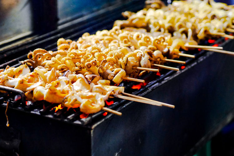 City Kebab Chinese Food Deep Fried  Fried Preparation  Skewer Barbecue Snack Close-up Street Market Street Food Asian Food Thai Food Thai Culture Fried Rice Wok Stir-fried Chinese Takeout
