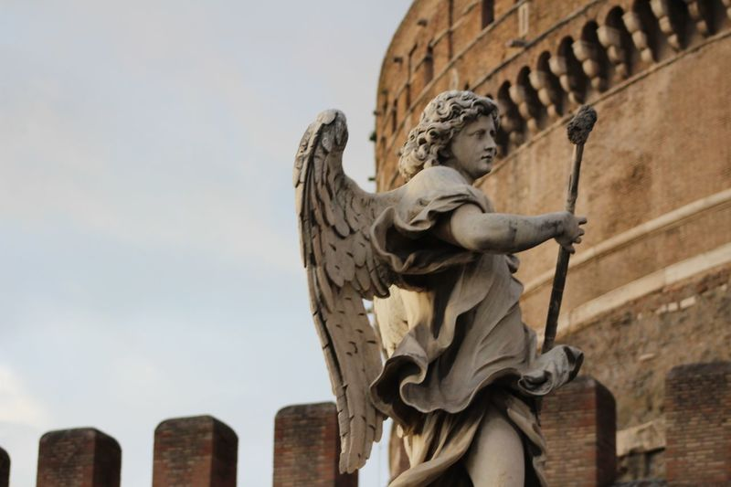 Bring me an angel. Italy❤️ Canon Vacations Travel Travel Destinations Outdoors Italy EyeEm Selects Sculpture Statue City Close-up Architecture Female Likeness Carving - Craft Product Angel Sculpted Art Art And Craft Historic Human Representation