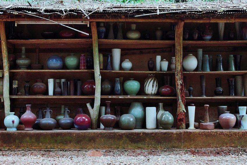 Pottery Vase Pottery Vases Pottery Village Pottery Bowls Pottery Pieces Pottery Shelf No People Variation Large Group Of Objects Day Indoors