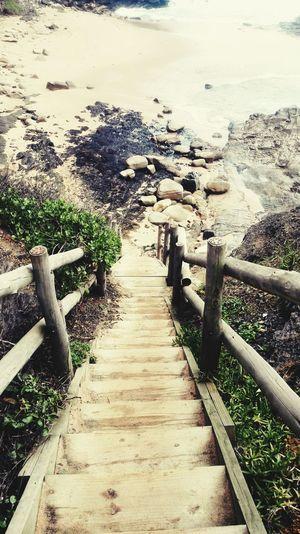 Beach Photography Wooden Stairs South Africa Kwazulunatal Ballito