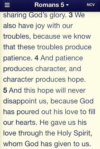 Trials-> hope. Good Stuff  Up Top